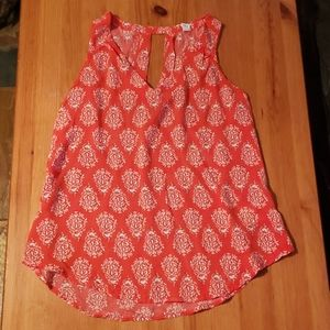 Old Navy Sleeveless Blouse with Keyhole Detail